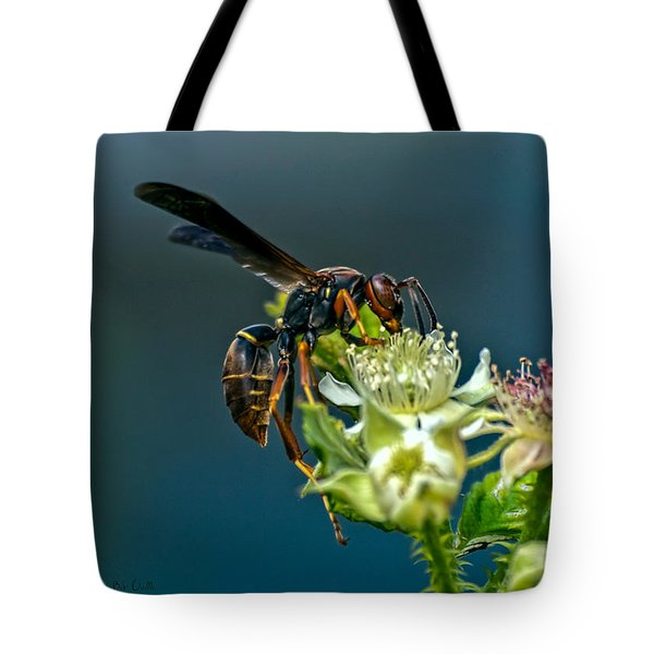 Wasp Tote Bag by Bob Orsillo