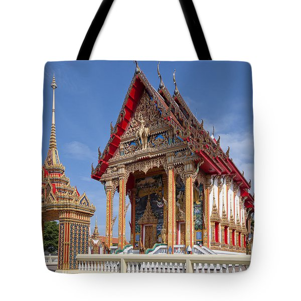Tote Bag featuring the photograph Wat Choeng Thalay Ordination Hall Dthp138 by Gerry Gantt