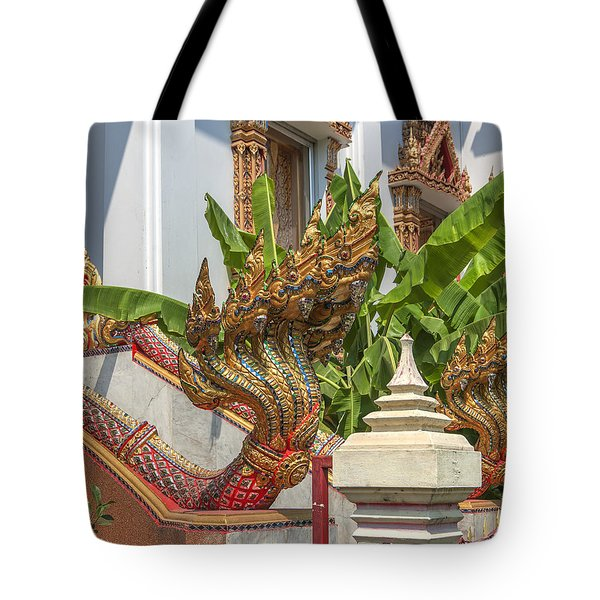 Wat Dokmai Phra Ubosot Stair Naga Dthb1783 Tote Bag