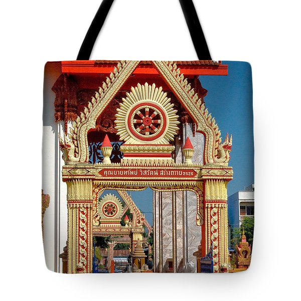 Wat Liab Ubosot Gateway Dthu039 Tote Bag by Gerry Gantt