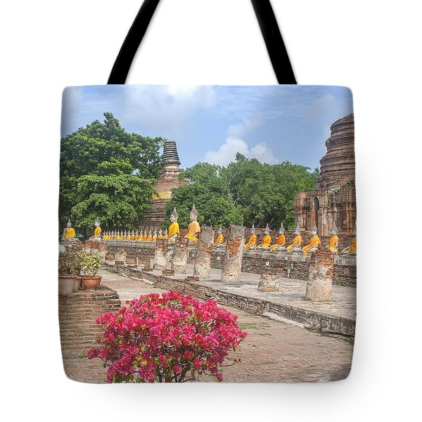 Wat Phra Chao Phya-thai Buddha Images And Ruined Chedi Dtha004 Tote Bag