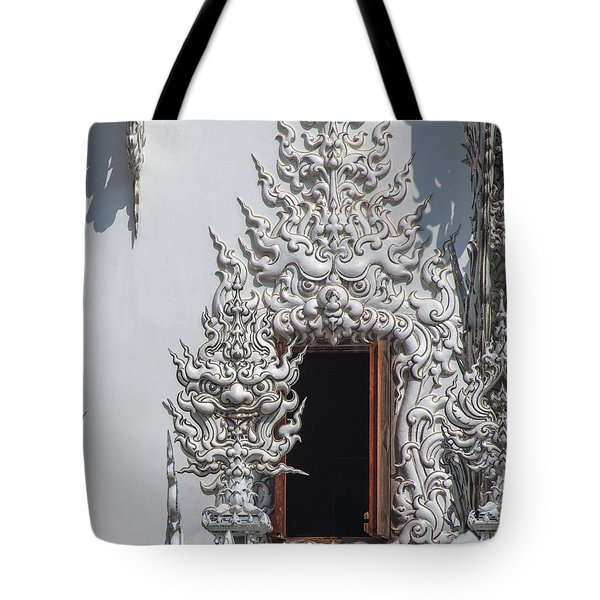 Wat Rong Khun Ubosot Window Dthcr0042 Tote Bag