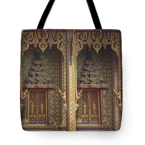 Wat Thung Setthi Ubosot Window Dthb1550 Tote Bag