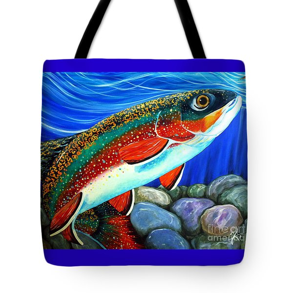 Brook Trout  Tote Bag by Jackie Carpenter