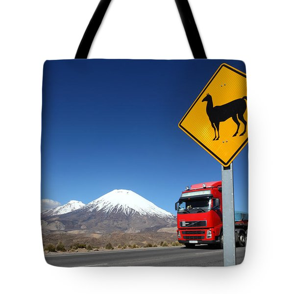 Watch Out For Llamas Tote Bag by James Brunker