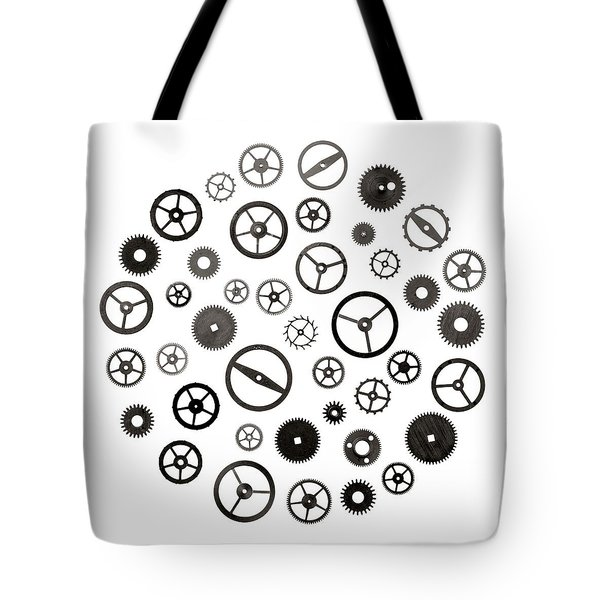 Watch Parts Tote Bag by Jim Hughes