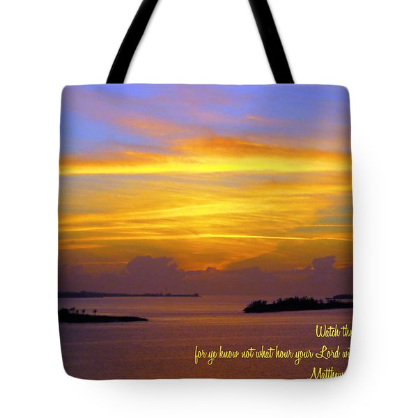 Watch Therefore Tote Bag