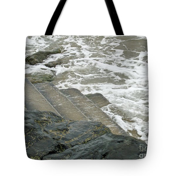 Tote Bag featuring the photograph Watch Your Step by Brenda Brown