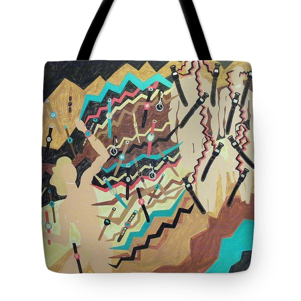 Tote Bag featuring the painting Watched by Erika Chamberlin