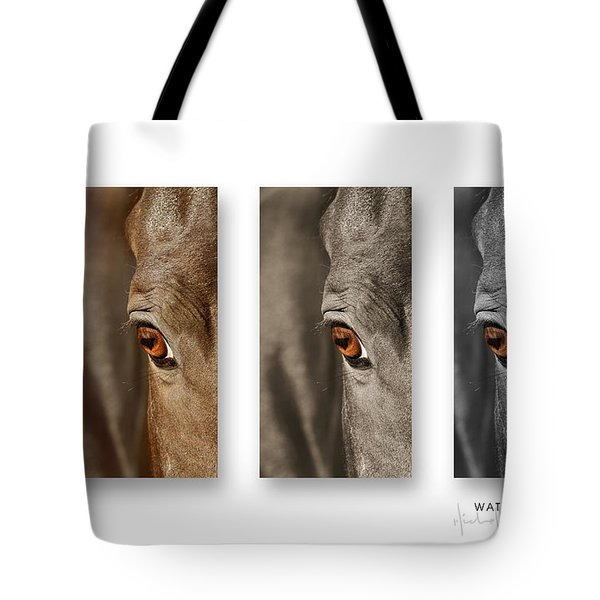 Watchful Triptych Tote Bag