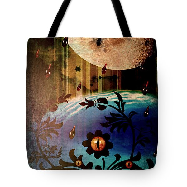 Tote Bag featuring the mixed media Watching by Ally  White