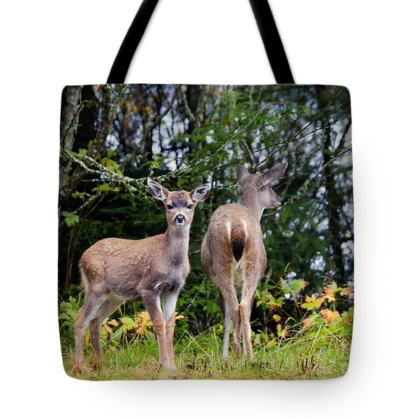 Watching Out For Mom Tote Bag