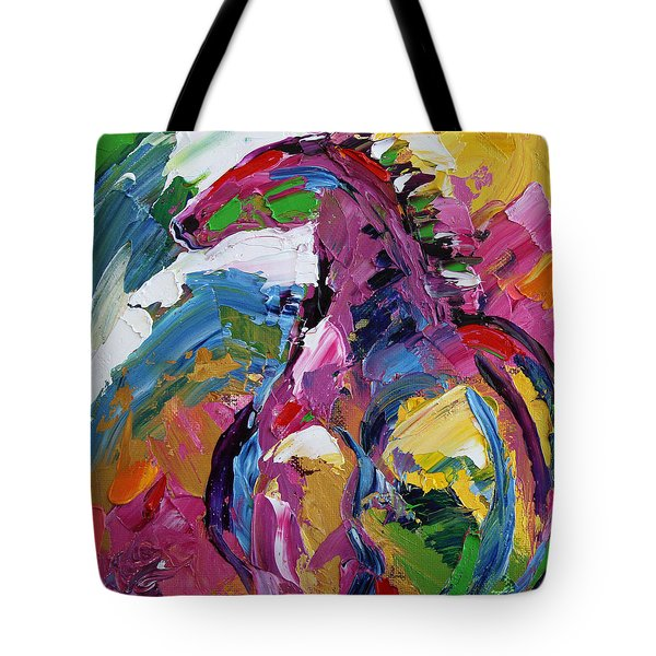 Watching Over . Horse 19 . 2014 Tote Bag