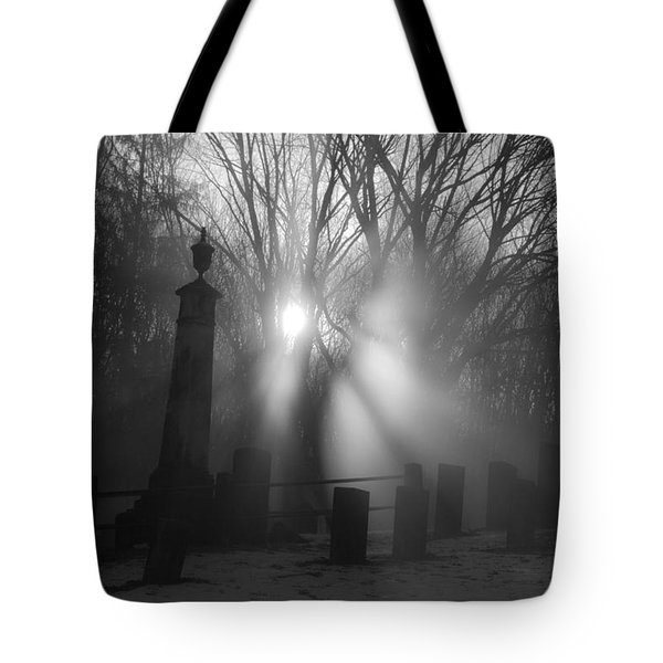 Watching Over Bw Tote Bag by Karol Livote