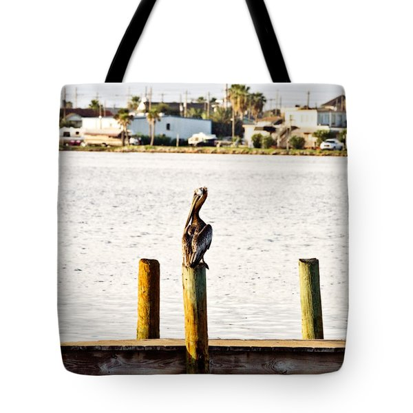 Watching Over The Bay Tote Bag by Scott Pellegrin