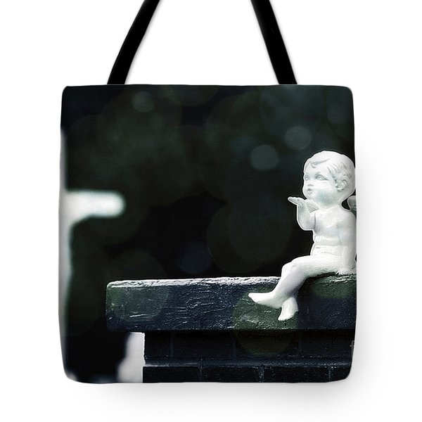 Watching Over Them Tote Bag by Trish Mistric