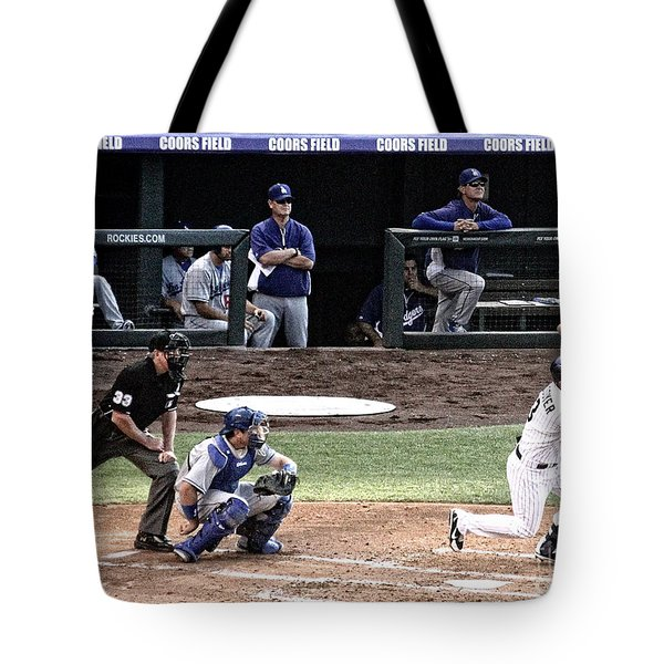 Watching The Ball Tote Bag by Bob Hislop