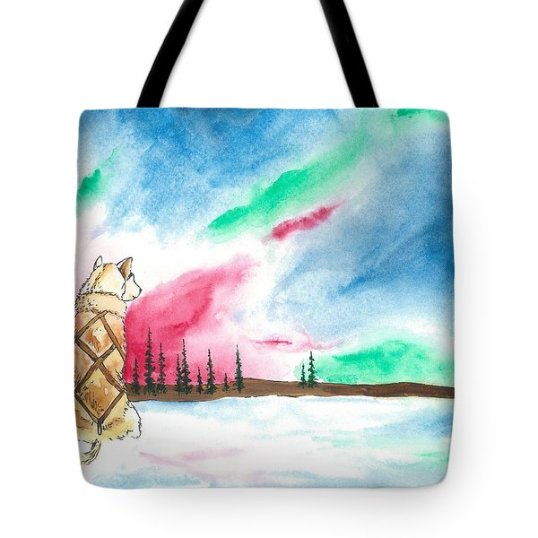 Watching The Lights Tote Bag by Sarah Glass