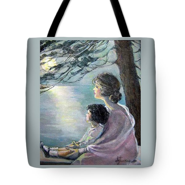 Watching The Moon Tote Bag