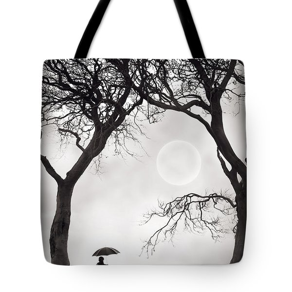 Watching The Moon Tote Bag by Lee Avison