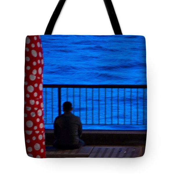 Watching The River Tote Bag