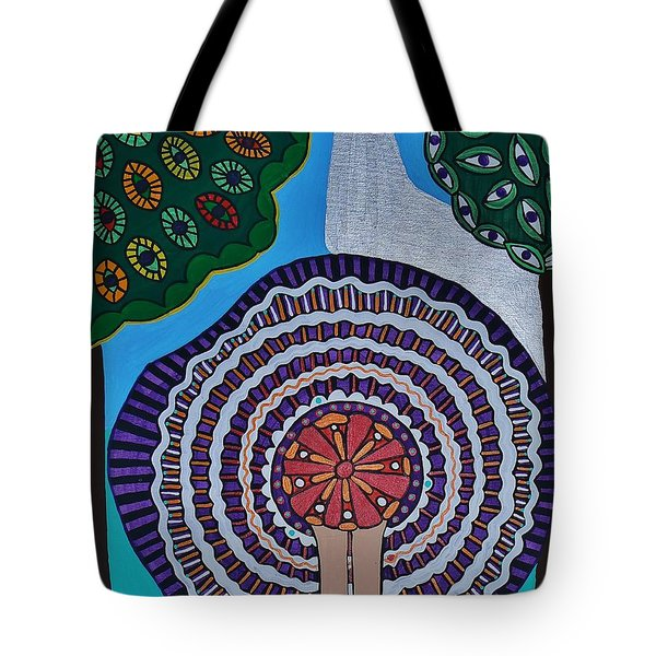 Tote Bag featuring the painting Watching The Show by Barbara St Jean