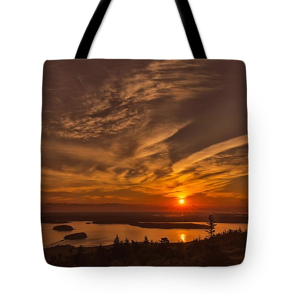 Watching The Sunrise Tote Bag by John M Bailey