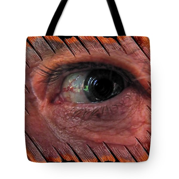 Tote Bag featuring the digital art Watching You by Maciek Froncisz
