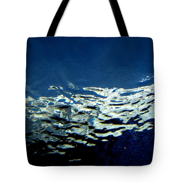 Tote Bag featuring the photograph Water Abstract 3 by Mary Bedy