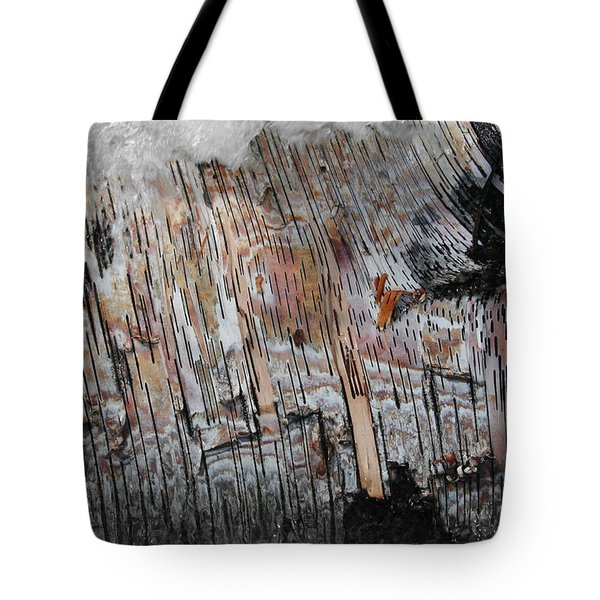 Tote Bag featuring the photograph Water And Birch by Dylan Punke