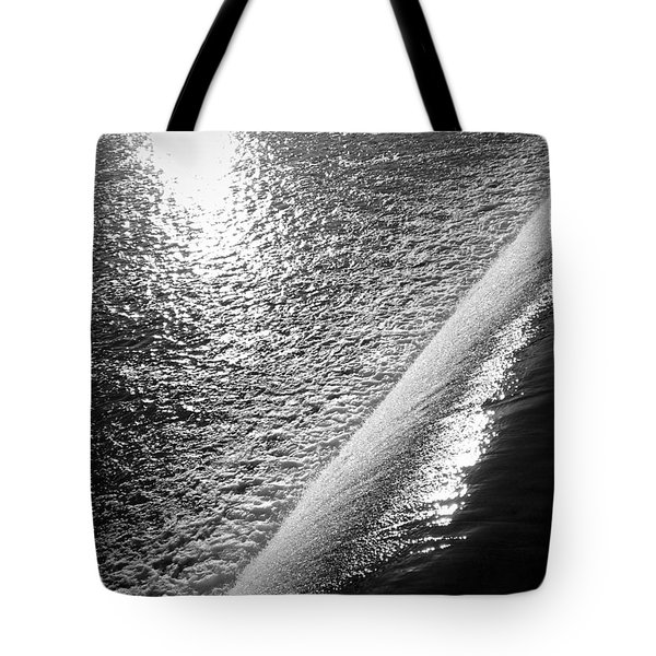Tote Bag featuring the photograph Water And Light by Photographic Arts And Design Studio