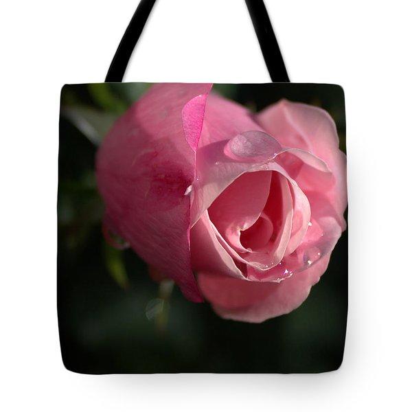 Water And Rose Tote Bag