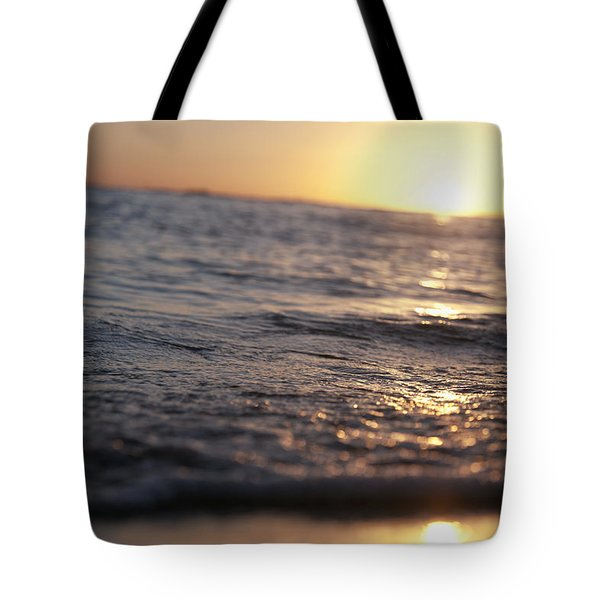Water At Sunset Tote Bag by Brandon Tabiolo