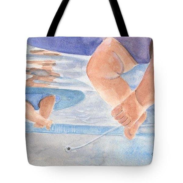 Water Babies Tote Bag by Sheryl Heatherly Hawkins