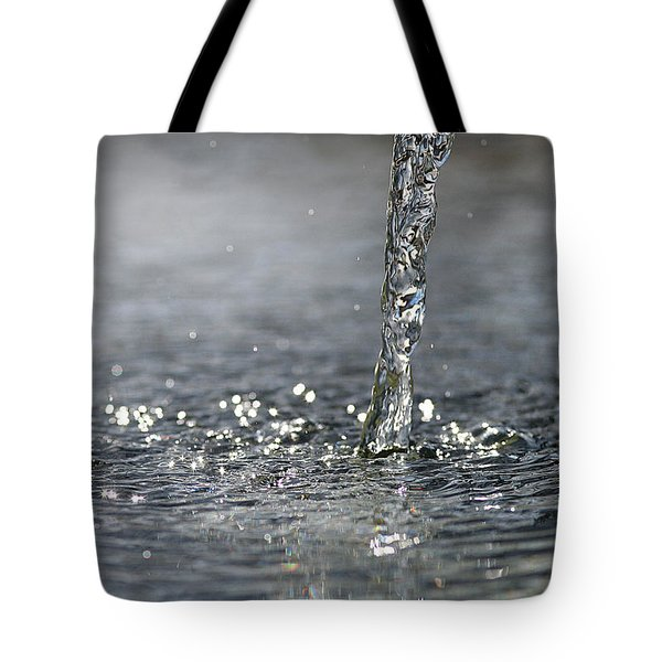 Water Beam Splashing Tote Bag