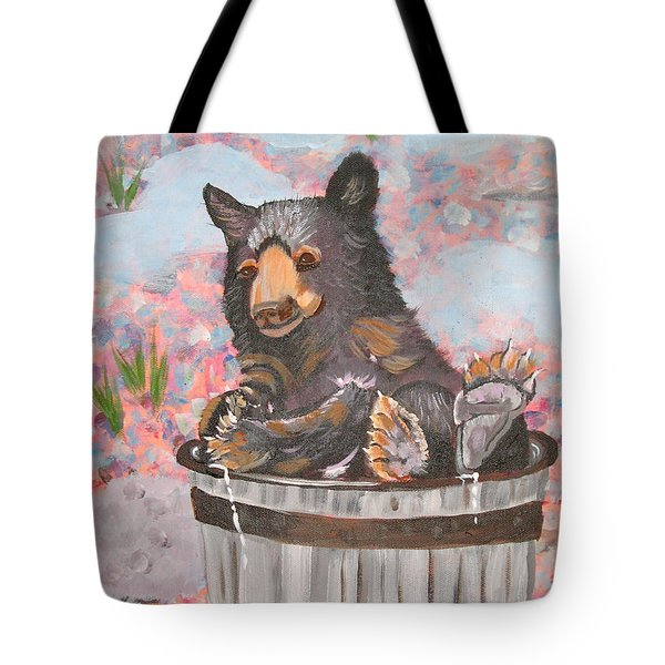 Tote Bag featuring the painting Water Bear by Phyllis Kaltenbach