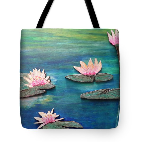 Water Blossom Tote Bag