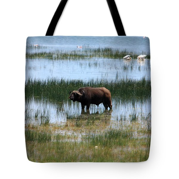 Water Buffalo At Lake Nakuru Tote Bag