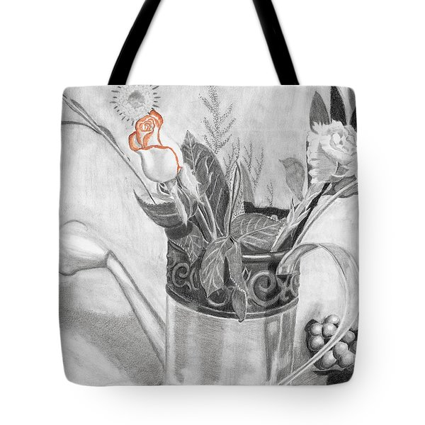 Water Can Bouquet Tote Bag