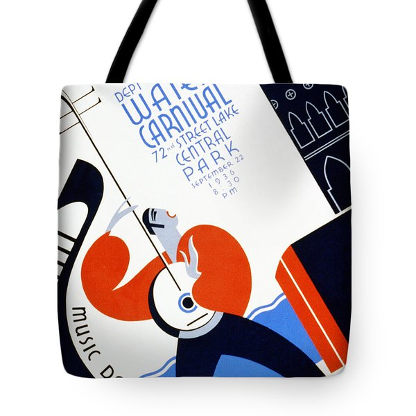 Water Carnival Poster 1936 Tote Bag by Digital Reproductions