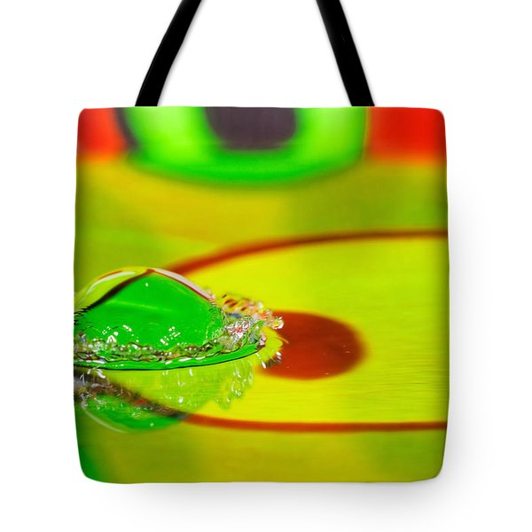 Tote Bag featuring the photograph Water Crown by Peter Lakomy