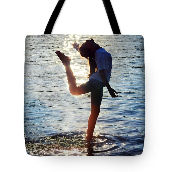 Water Dancer Tote Bag by Laura Fasulo
