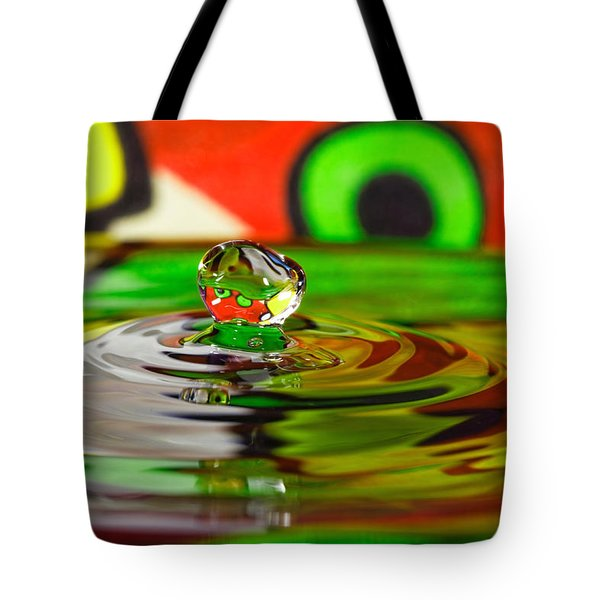 Tote Bag featuring the photograph Water Drop by Peter Lakomy