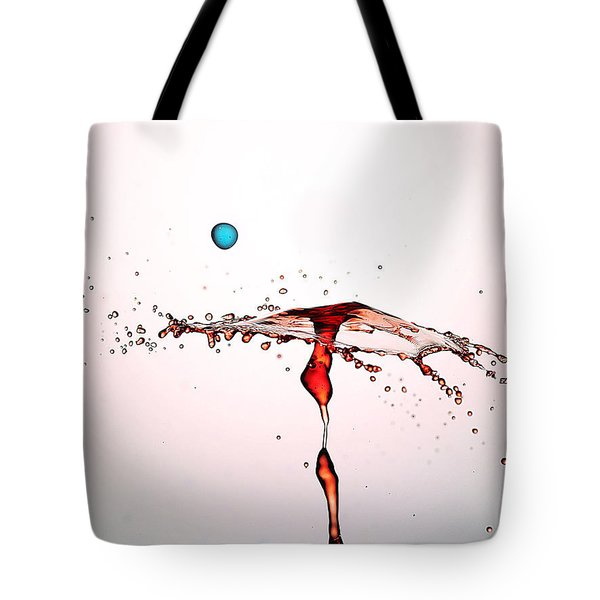 Water Droplets Collision Liquid Art 11 Tote Bag by Paul Ge