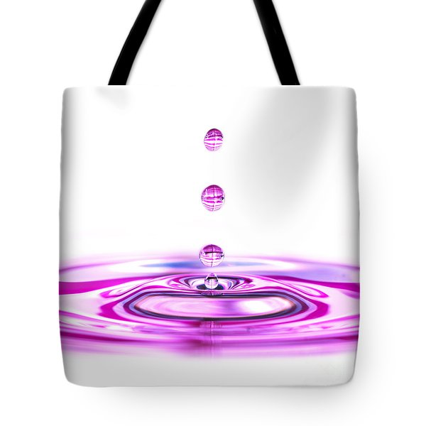 Water Droplets White And Purple Tote Bag