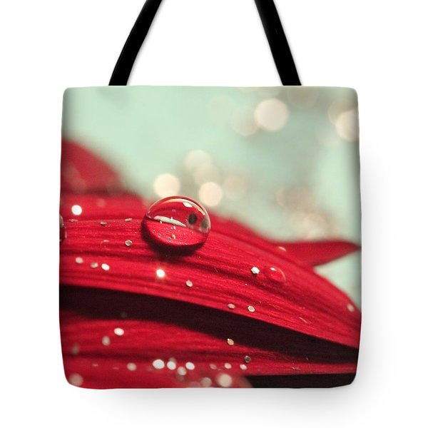 Water Drops And Glitter Tote Bag