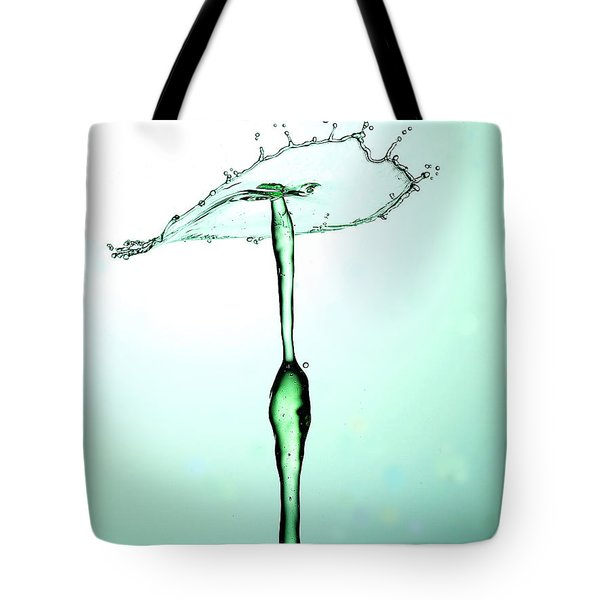 Water Drops Collision Liquid Art 23 Tote Bag by Paul Ge