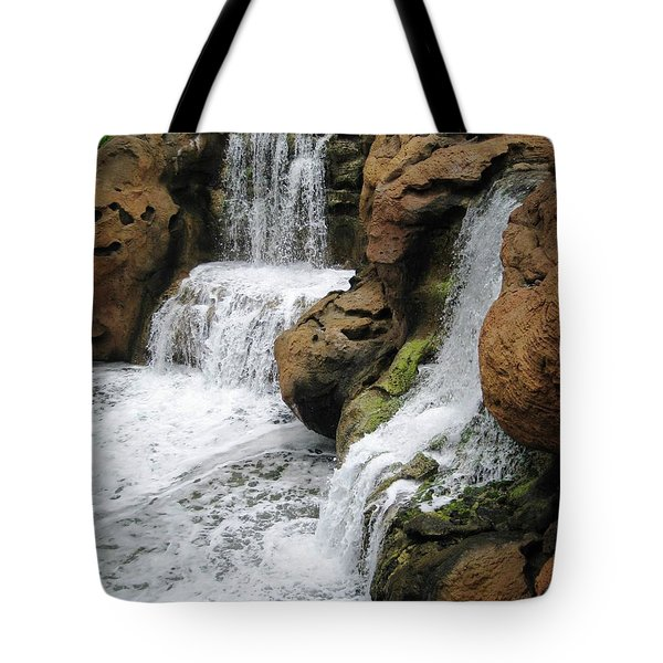 Tote Bag featuring the photograph Water Fall by Judy Palkimas