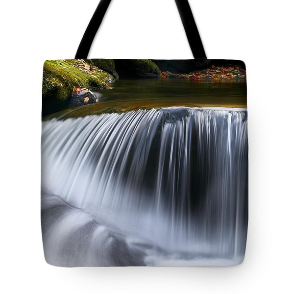 Water Falling Great Smoky Mountains Tote Bag by Rich Franco