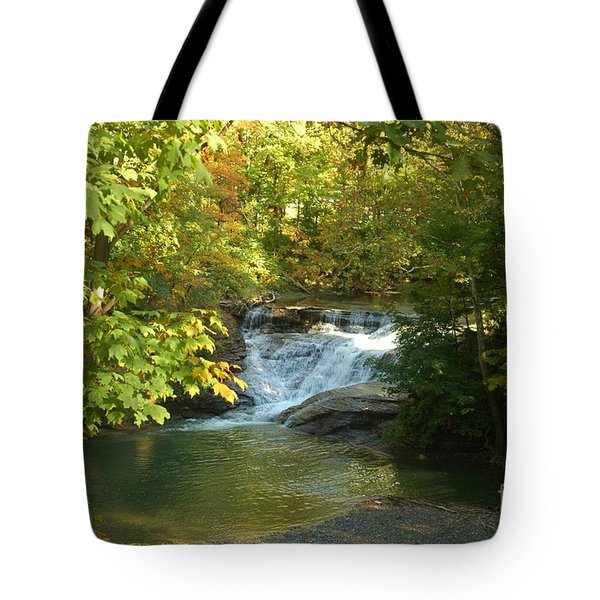 Water Falls Tote Bag by Kathleen Struckle